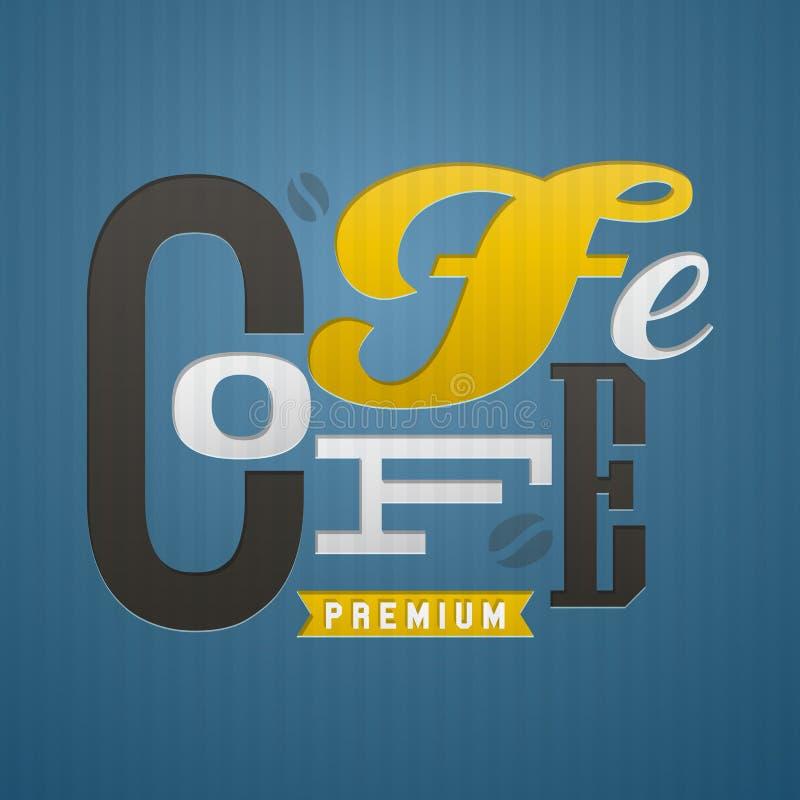 Conception d'étiquette de café. Illustration de vecteur. illustration stock