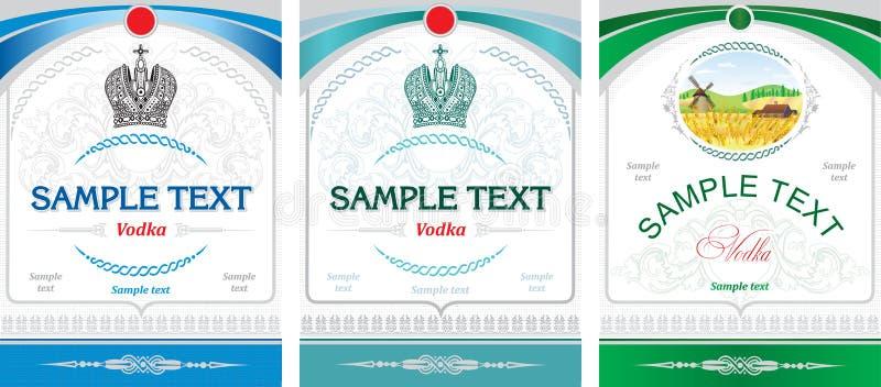 Conception d'étiquette - vodka illustration libre de droits
