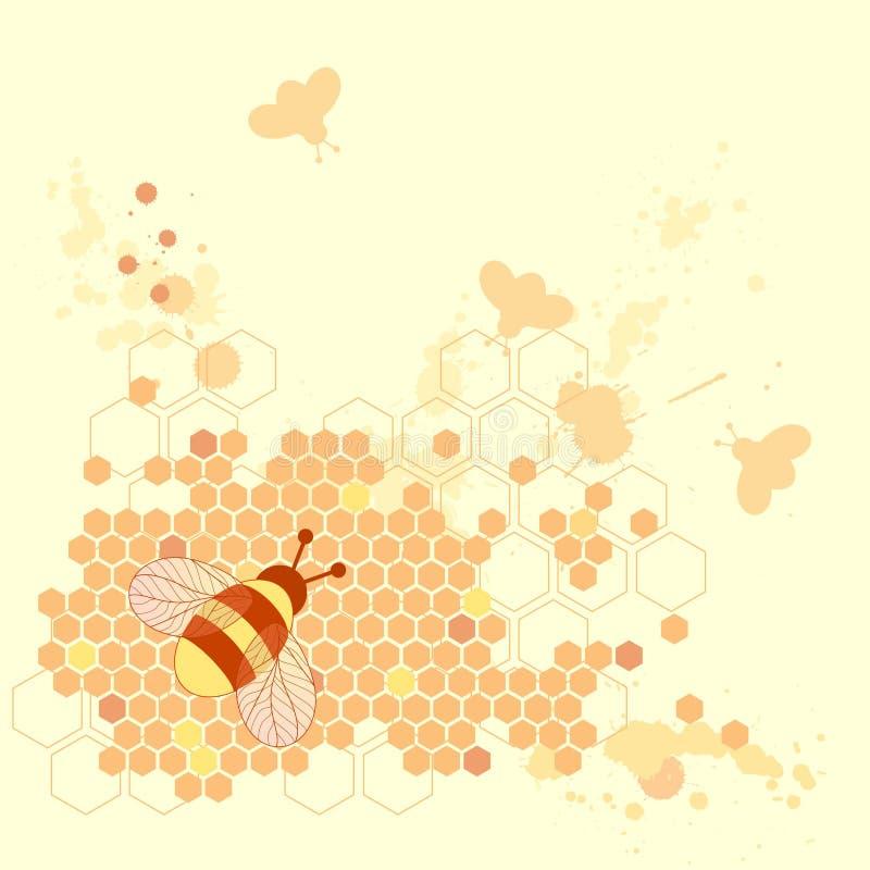 Conception d'abeille de miel illustration de vecteur