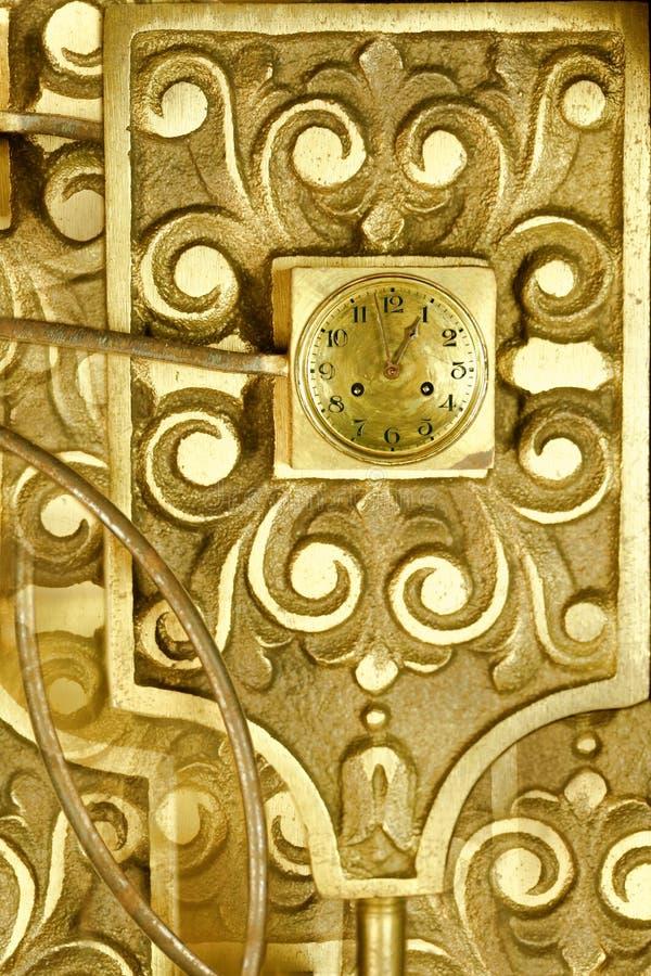 Conception d'abrégé sur rouages d'horloge de cru photo libre de droits