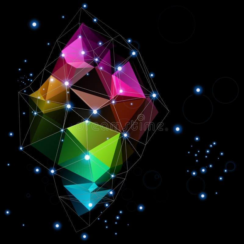 Conception d'abrégé sur triangle de technologies spatiales illustration de vecteur
