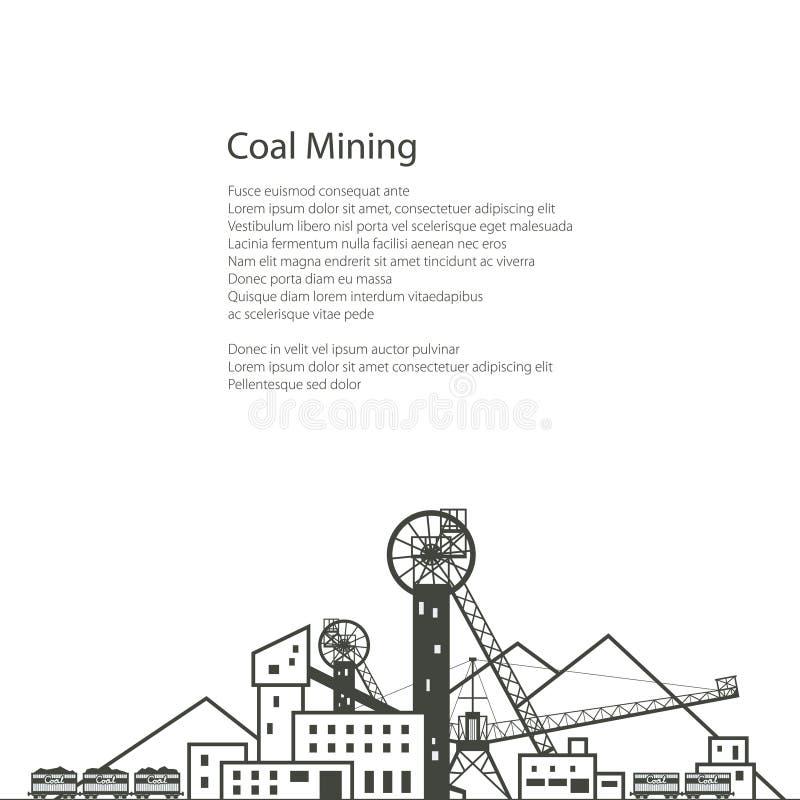 Conception d'affiche d'industrie charbonnière illustration stock