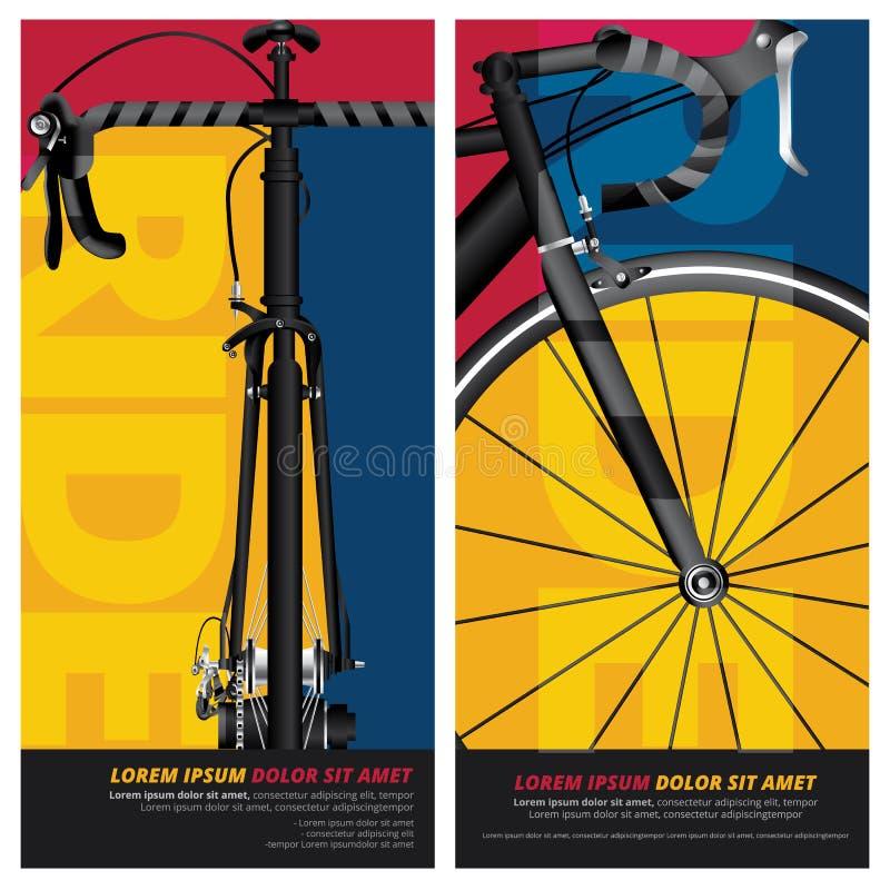Conception d'affiche de bicyclette illustration de vecteur