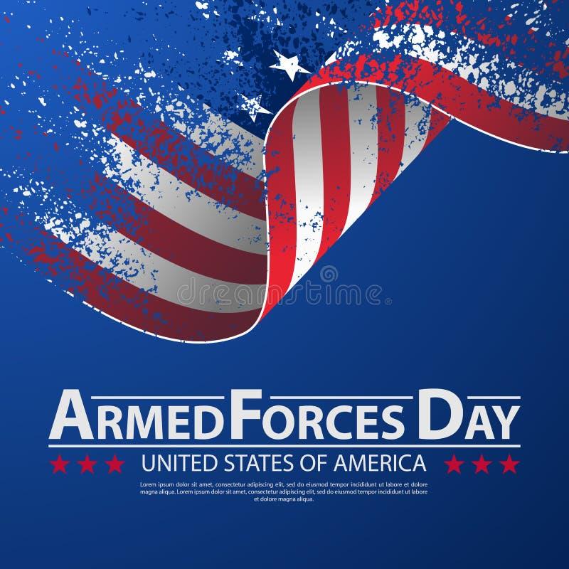 Conception d'affiche de calibre de jour de forces armées Fond d'illustration de vecteur pour le jour de forces armées illustration stock