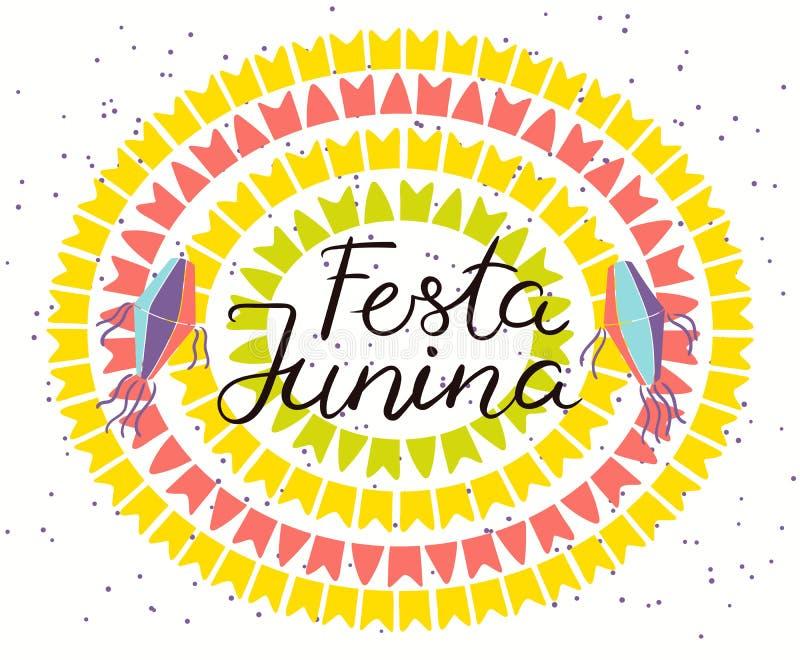 Conception d'affiche de Festa Junina illustration stock