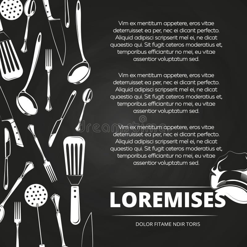 Conception d'affiche de tableau de restaurant de vintage illustration de vecteur