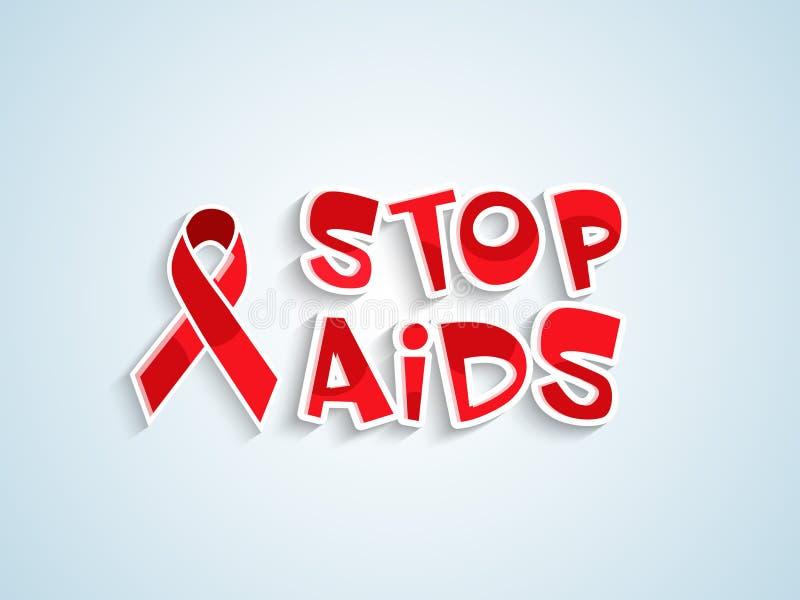 Conception d'affiche ou de bannière pour la Journée mondiale contre le SIDA illustration libre de droits