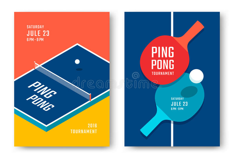 Conception d'affiches de ping-pong illustration de vecteur