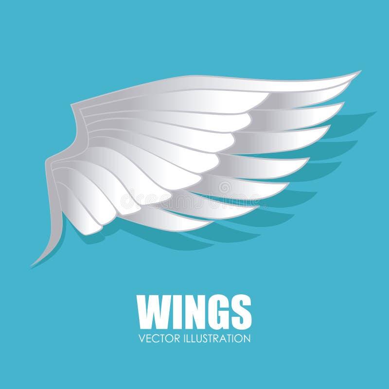 Conception d'ailes illustration de vecteur