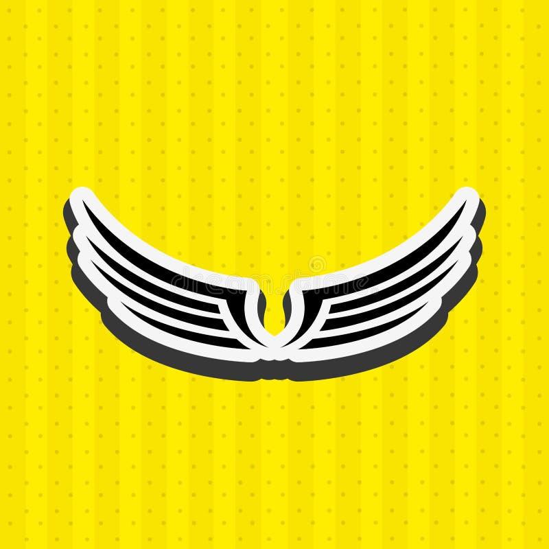conception d'ailes d'anges illustration libre de droits