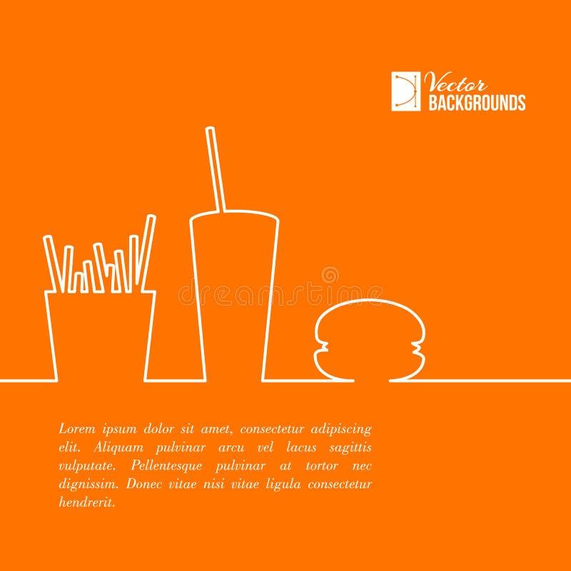 Conception d'aliments de préparation rapide. illustration libre de droits