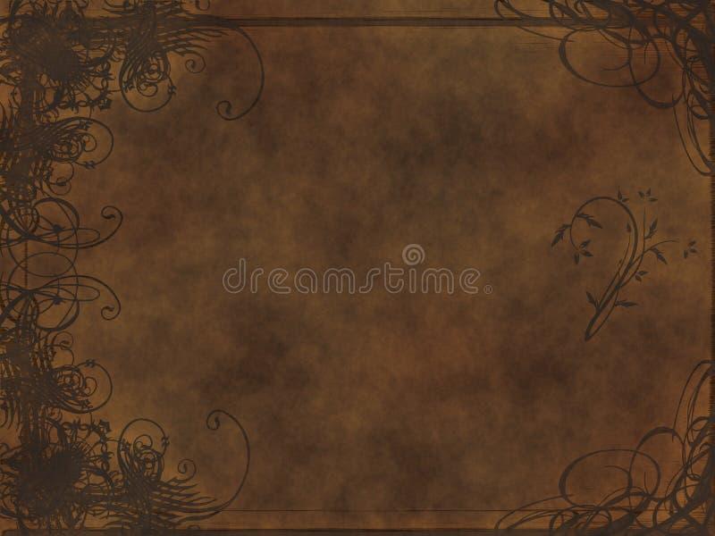 Conception d'arabesque en cuir illustration stock