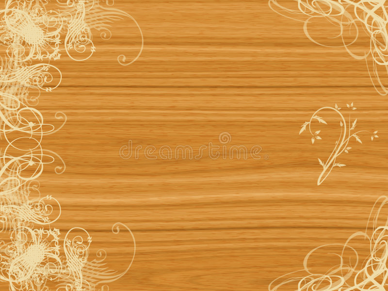 Conception d'arabesque sur le bois illustration stock