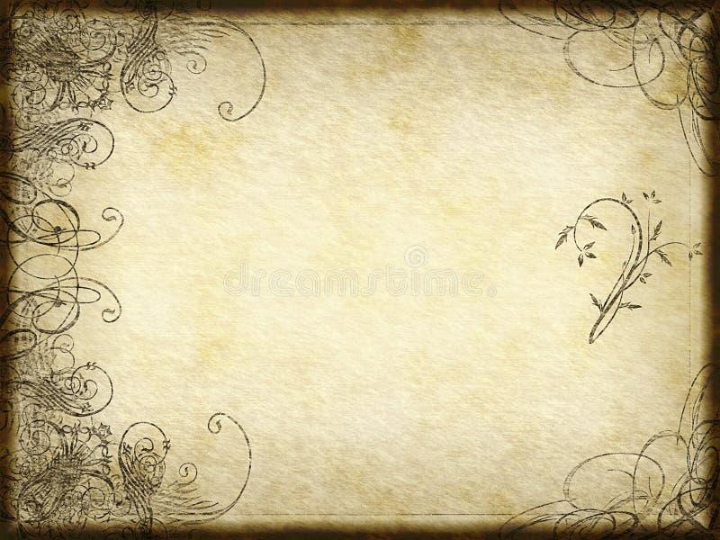 Conception d'arabesque sur le papier illustration de vecteur