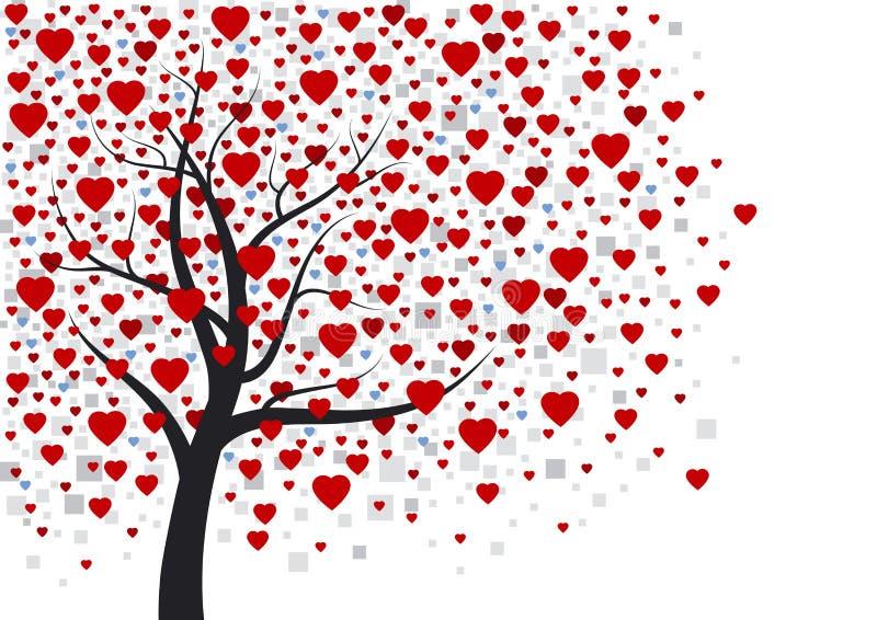 Conception d'arbre de coeur illustration de vecteur