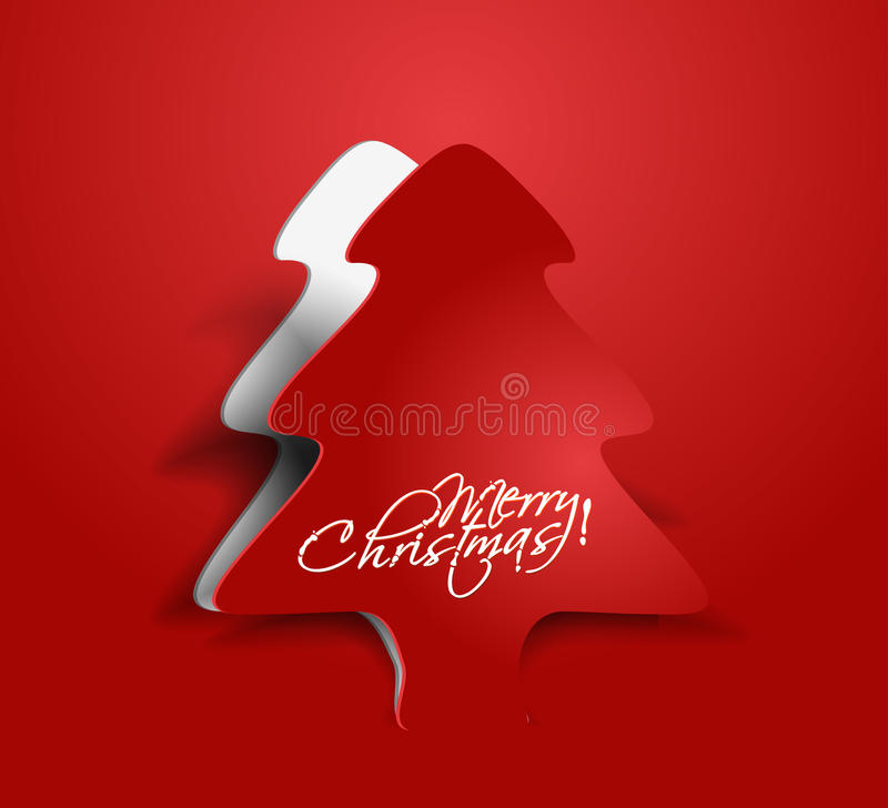 Conception d'arbre de Noël illustration stock