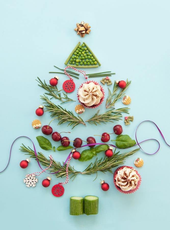 Conception d'arbre de nourriture de Noël photographie stock libre de droits