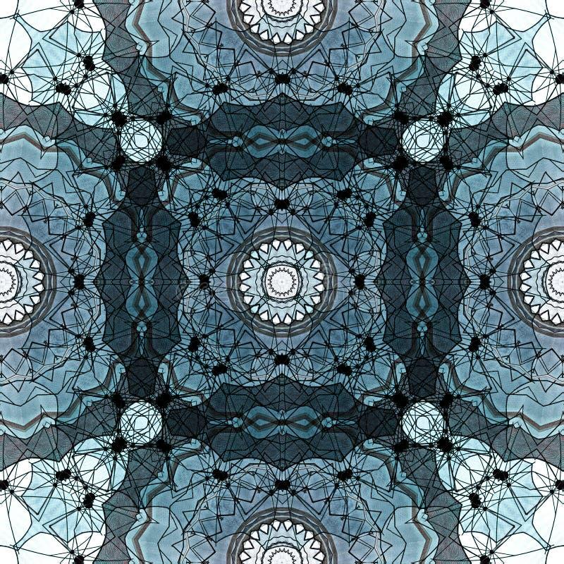Conception d'art de Digital avec le modèle en filigrane bleu et gris illustration de vecteur