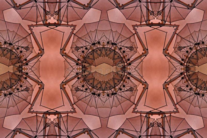 Conception d'art de Digital avec le modèle en filigrane orange et brun rouge illustration libre de droits