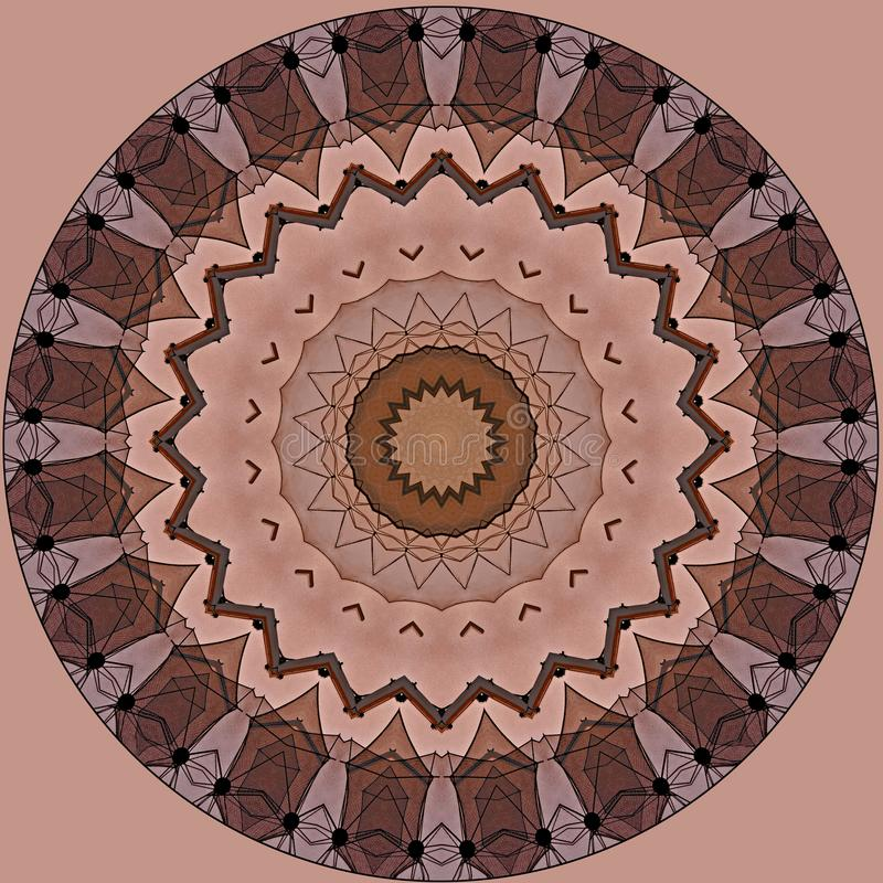 Conception d'art de Digital avec le modèle en filigrane rose et brun illustration stock