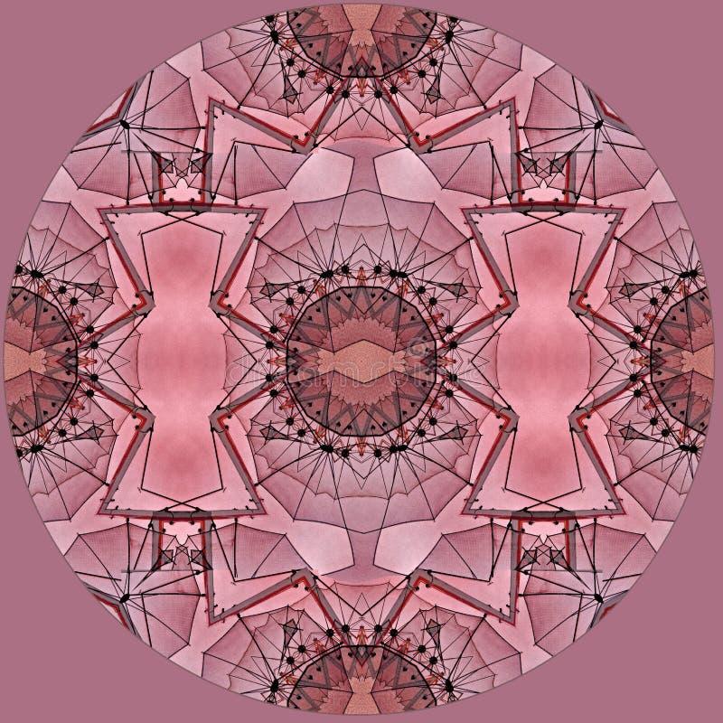 Conception d'art de Digital avec le modèle en filigrane rose et brun rouge illustration stock