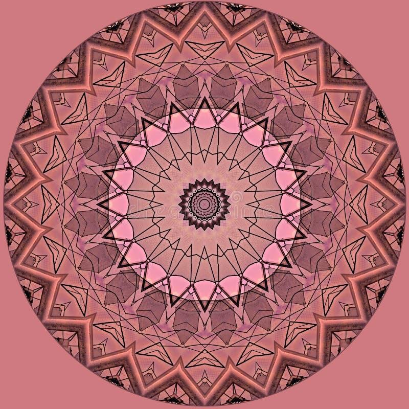 Conception d'art de Digital avec le modèle en filigrane rose et gris illustration libre de droits