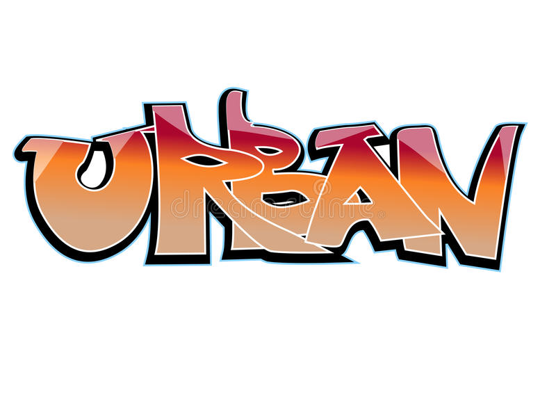 Conception d'art de graffiti, urbaine illustration stock