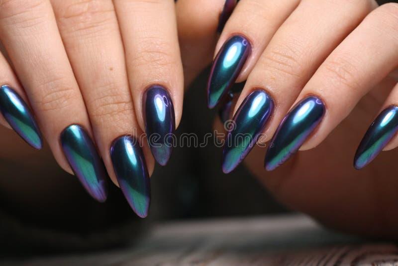 Conception d'art de vernis à ongles d'ongles manucurés photo stock