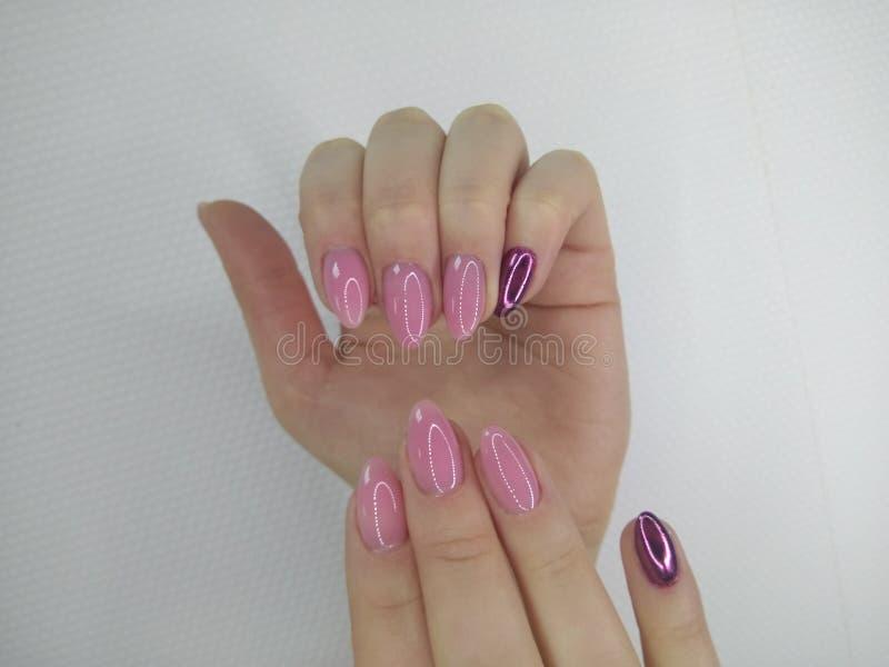 Conception d'art de vernis à ongles d'ongles manucurés Les meilleurs clous images stock