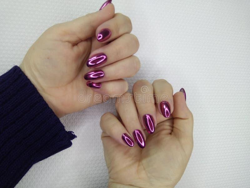 Conception d'art de vernis à ongles d'ongles manucurés Les meilleurs clous photos stock