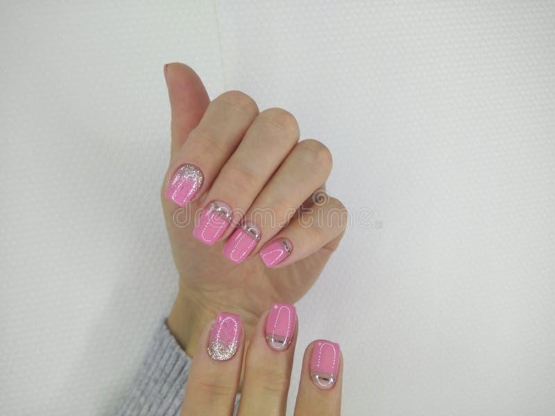 Conception d'art de vernis à ongles d'ongles manucurés Les meilleurs clous photo libre de droits