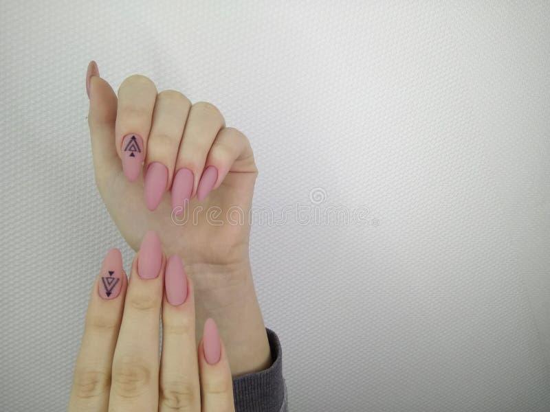 Conception d'art de vernis à ongles d'ongles manucurés Les meilleurs clous photos libres de droits