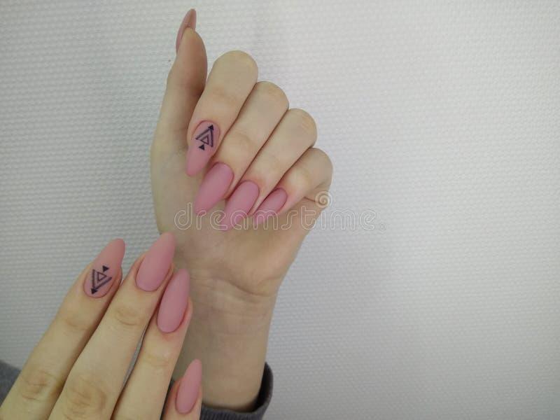 Conception d'art de vernis à ongles d'ongles manucurés Les meilleurs clous images libres de droits