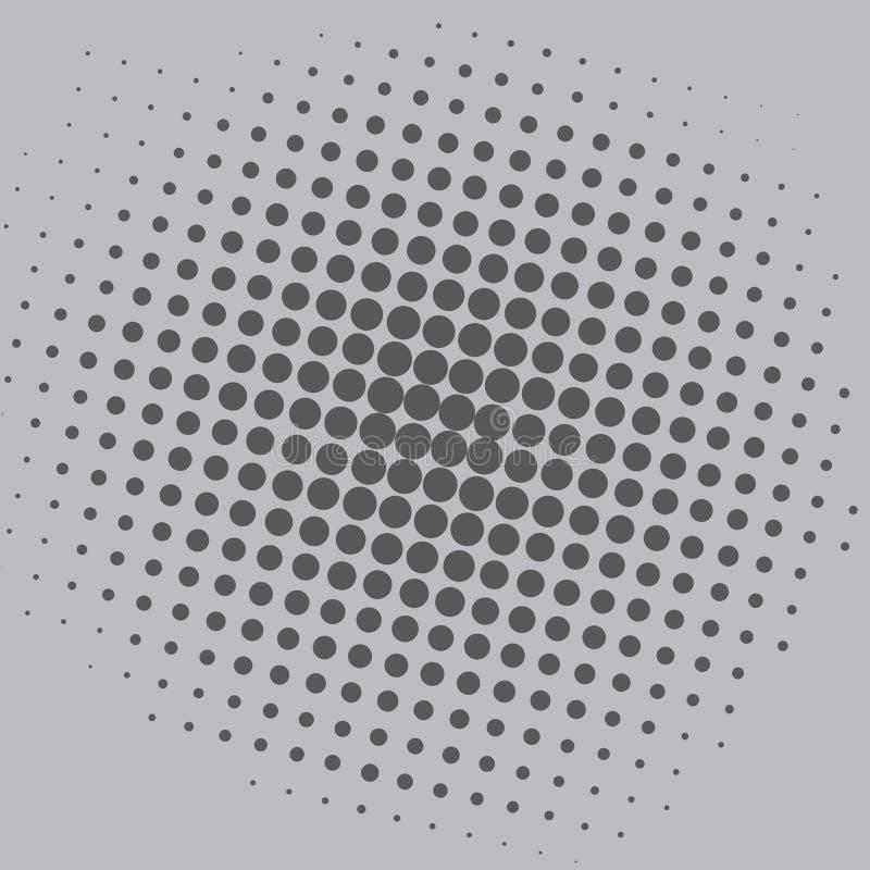 Conception d'Art Grey Dots Comic Background Vector Template de bruit illustration libre de droits