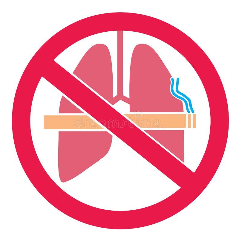 Conception d'autocollant de fumée du ` t de Don illustration stock