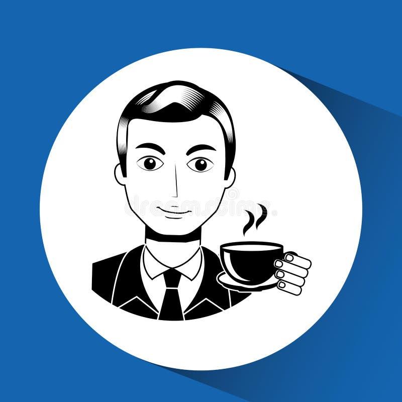 conception d'avatar de monsieur illustration stock