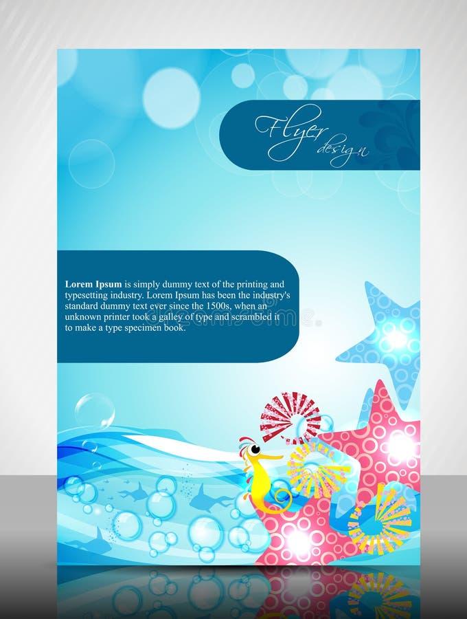 Conception d'aviateur de concept de l'eau illustration stock