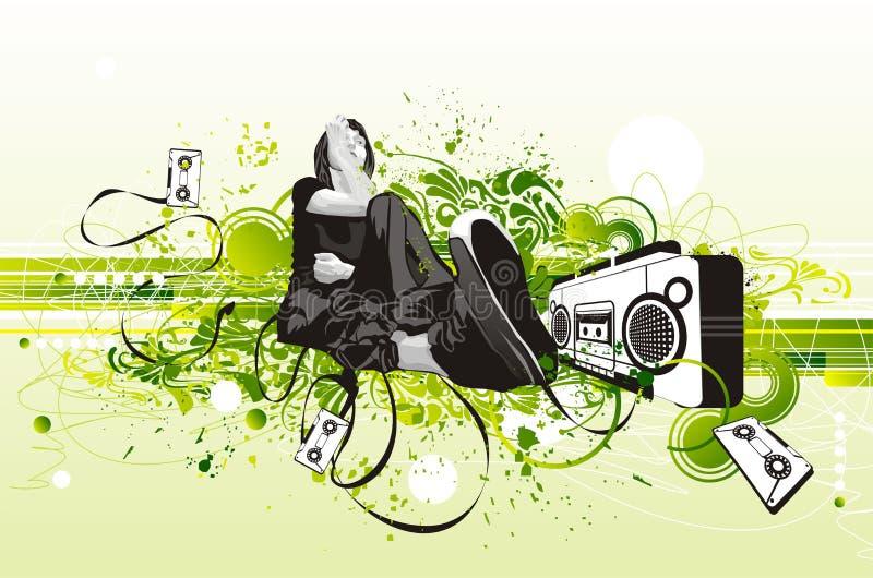 Download Conception D'aviateur De Réception Illustration de Vecteur - Illustration du grunge, karaoke: 2126196