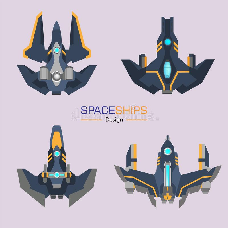 Conception d'avions de vaisseaux spatiaux illustration libre de droits