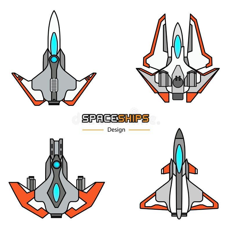 Conception d'avions de vaisseaux spatiaux illustration stock