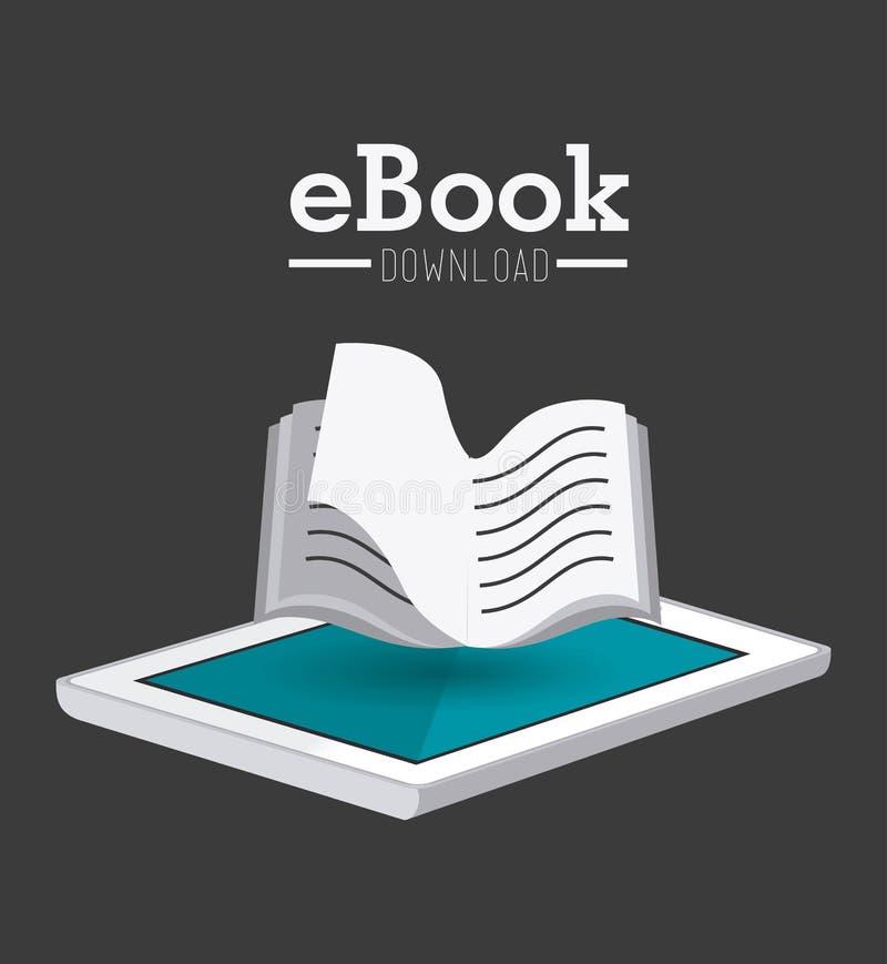 Conception d'EBook illustration de vecteur