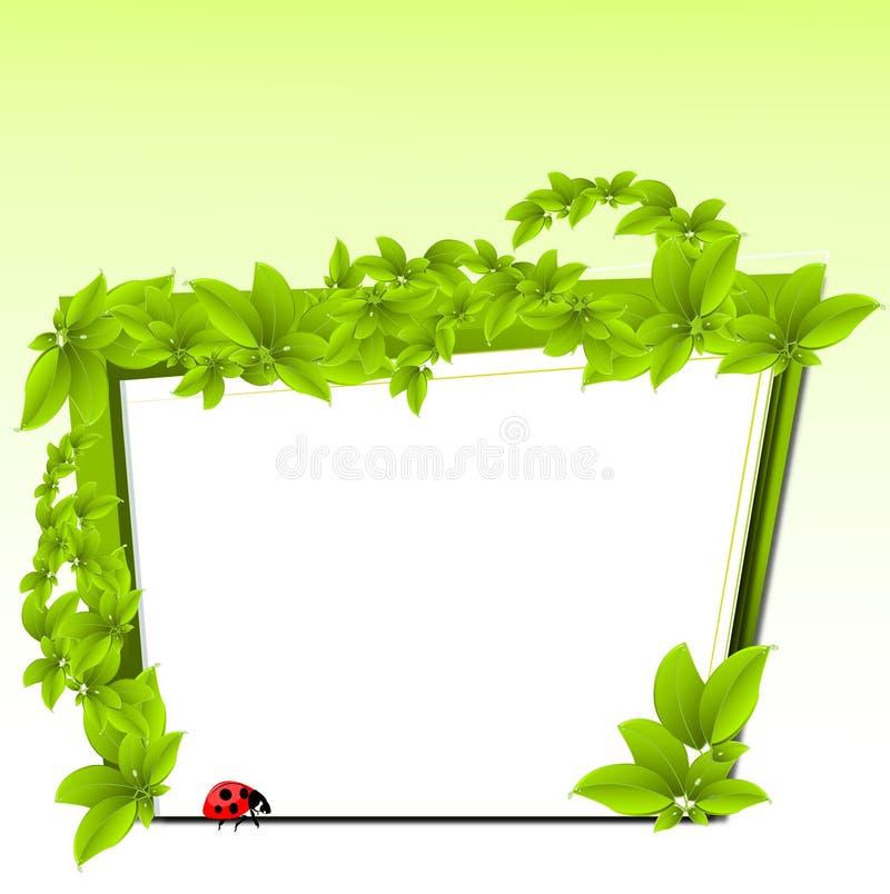 Conception d'Eco illustration stock