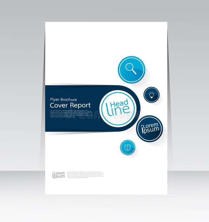 Conception d'Ector pour l'affiche d'insecte de brochure de rapport de couverture dans la taille A4 illustration stock