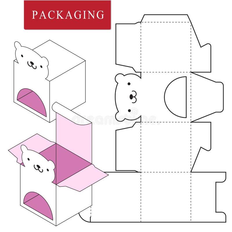 Conception d'emballage Illustration de vecteur de bo?te illustration stock