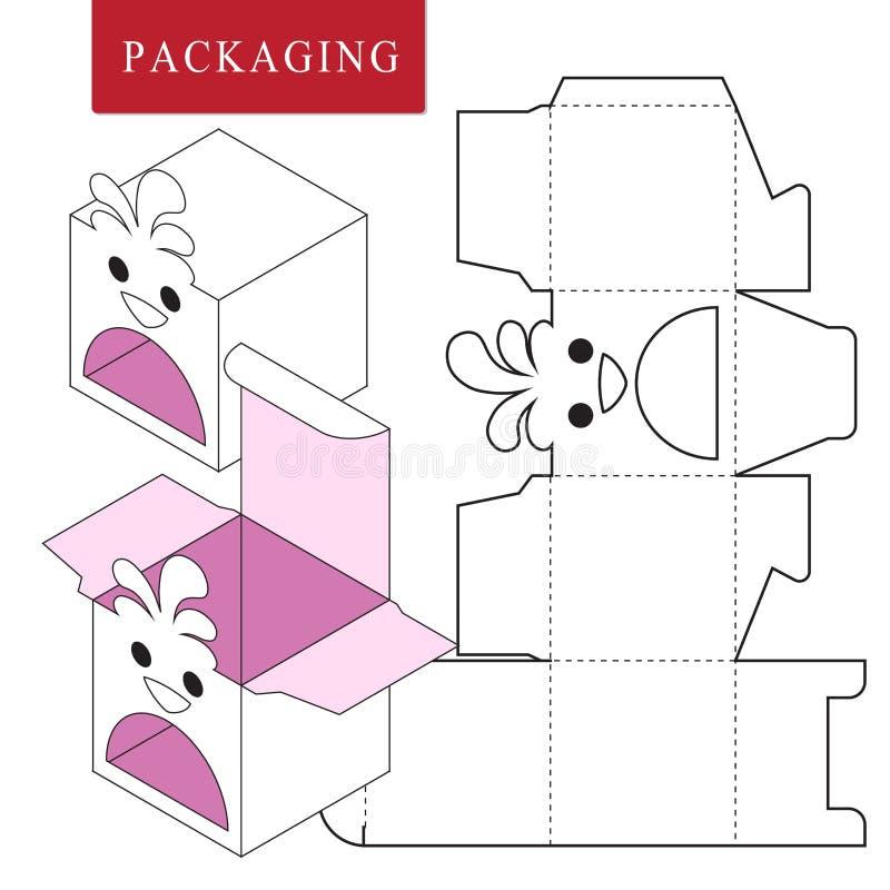 Conception d'emballage Illustration de vecteur de bo?te illustration de vecteur