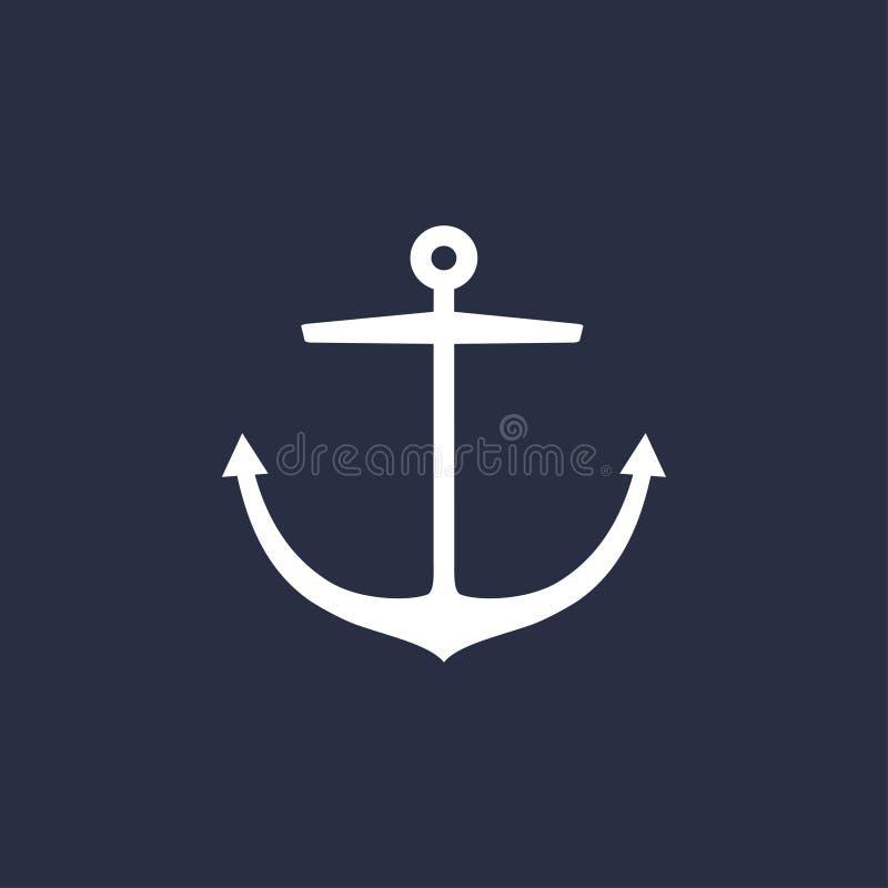 Conception d'emblème d'ancre illustration libre de droits