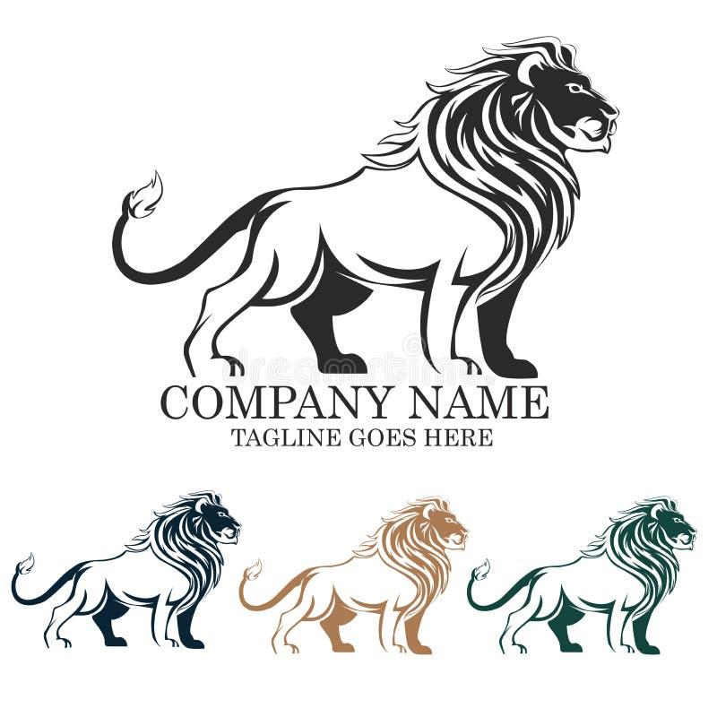 Conception d'emblème d'illustration de logo de vecteur de lion photographie stock libre de droits