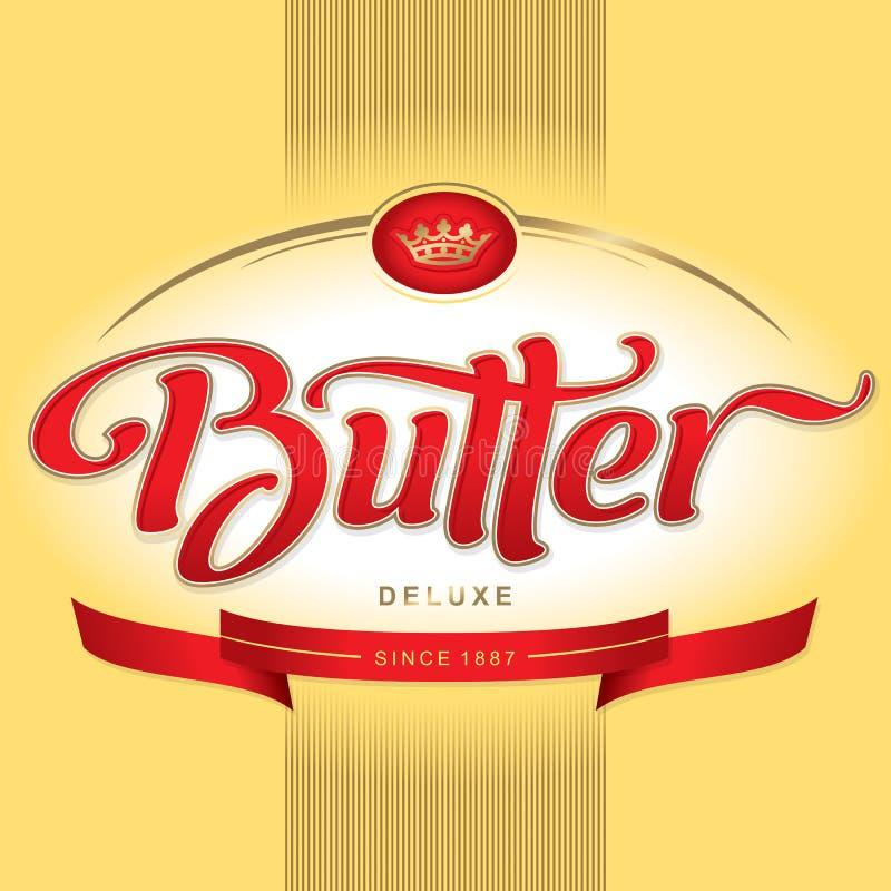 Conception d'empaquetage de beurre () illustration libre de droits