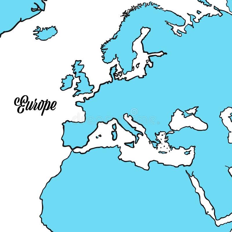 Conception d'ensemble de carte de l'Europe illustration de vecteur