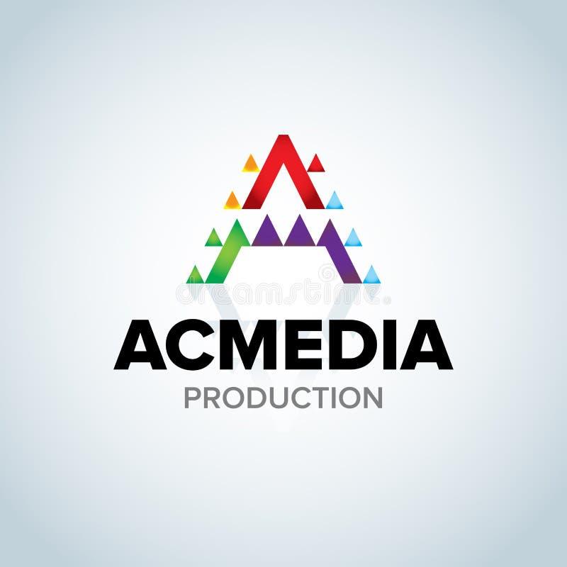 Conception d'entreprise de logo de la lettre A d'affaires Calibre coloré de logo de la lettre A Marquez avec des lettres le logo  illustration libre de droits